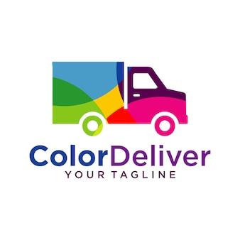 Modelo de design de logotipo de entrega