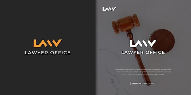 Modelo de design de logotipo de escritório de advogado