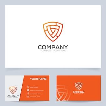Modelo de design de logotipo de escudo para agência ou empresa