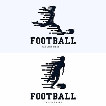 Modelo de design de logotipo de esporte de futebol