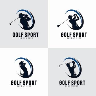 Modelo de design de logotipo de esporte de golfe