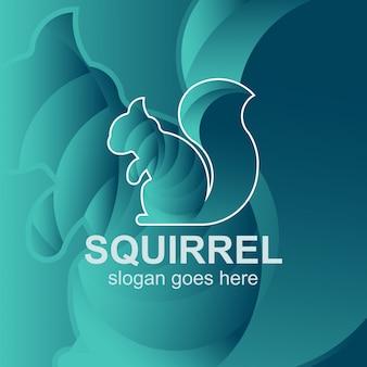 Modelo de design de logotipo de esquilo