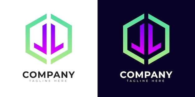 Modelo de design de logotipo de estilo gradiente moderno letra inicial l