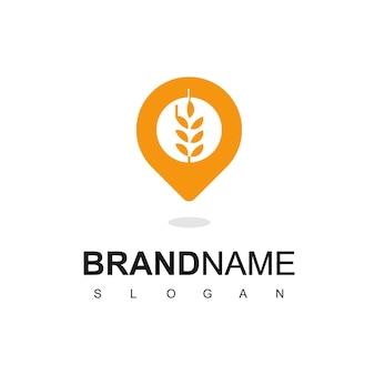 Modelo de design de logotipo de farm place