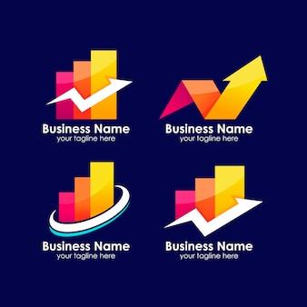 Modelo de design de logotipo de finanças de negócios