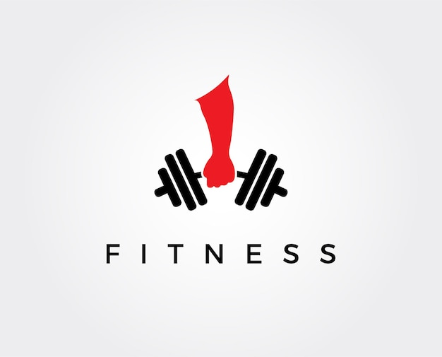 Modelo de design de logotipo de fitness, design para academia e fitness