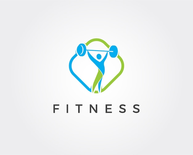 Modelo de design de logotipo de fitness