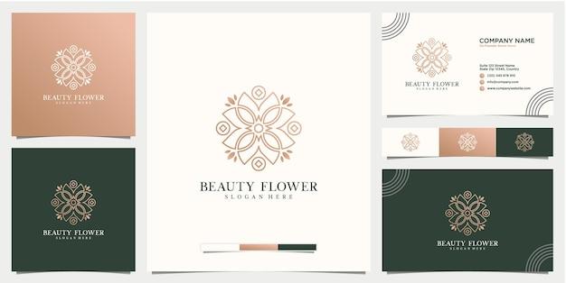 Modelo de design de logotipo de flor abstrata