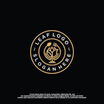 Modelo de design de logotipo de flor de lótus