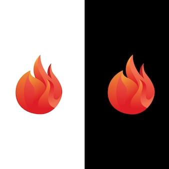 Modelo de design de logotipo de fogo