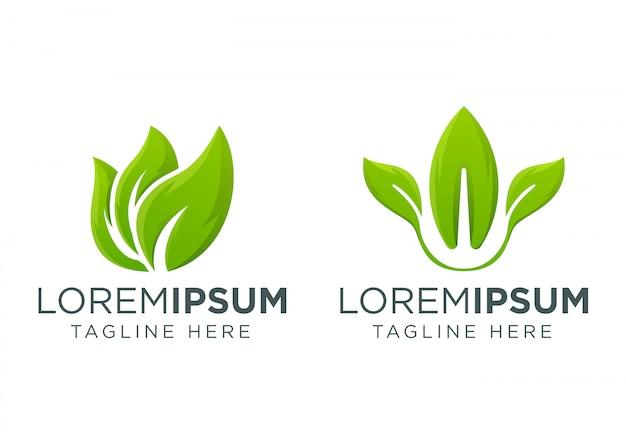 Modelo de design de logotipo de folha