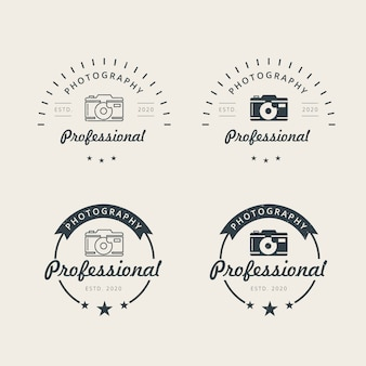 Modelo de design de logotipo de fotografia profissional