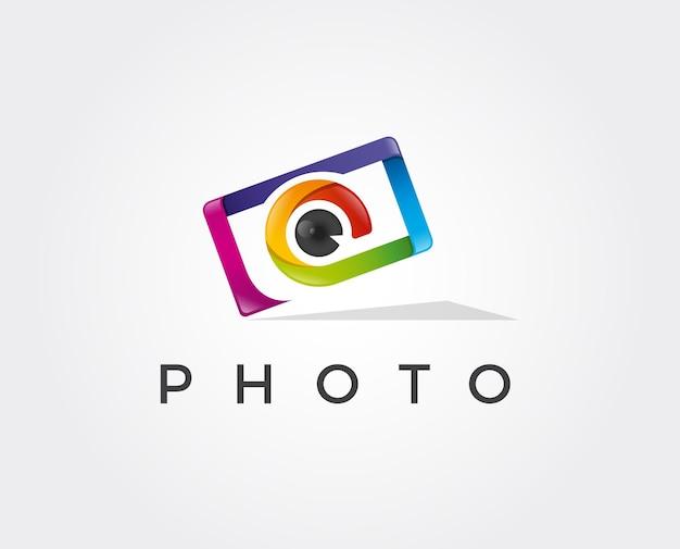 Modelo de design de logotipo de fotografia.