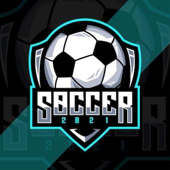 Modelo de design de logotipo de futebol de futebol