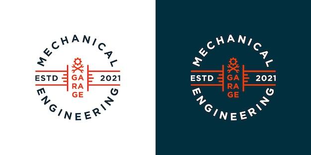 Modelo de design de logotipo de garagem em estilo vintage para sua empresa ou comunidade