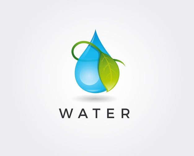 Modelo de design de logotipo de gota de água.