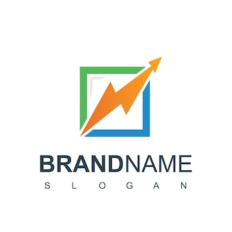 Modelo de design de logotipo de gráfico de negócios