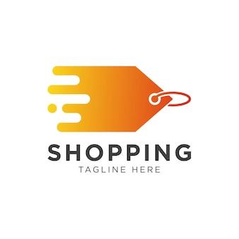 Modelo de design de logotipo de ícone de entrega de tag