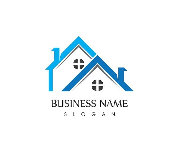 Modelo de design de logotipo de imóveis e construção de casas