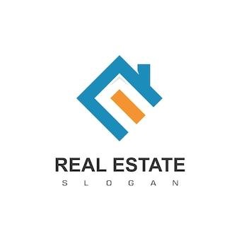 Modelo de design de logotipo de imóveis vetor de logotipo de telhados