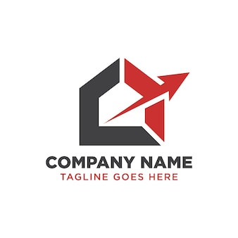 Modelo de design de logotipo de imóveis