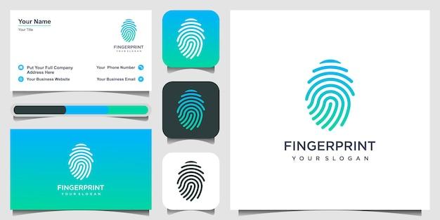 Modelo de design de logotipo de impressão digital
