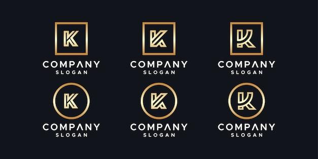 Modelo de design de logotipo de iniciais k.