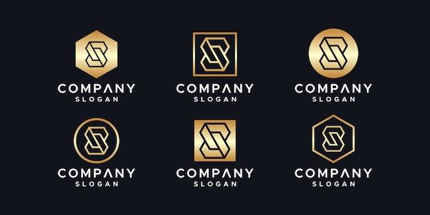 Modelo de design de logotipo de iniciais s.