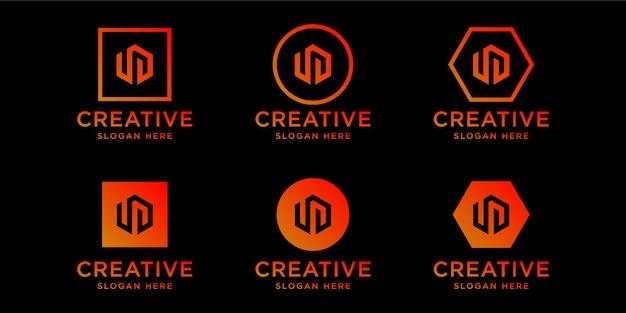 Modelo de design de logotipo de iniciais ud