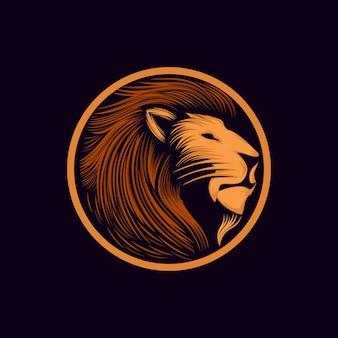 Modelo de design de logotipo de leão vetor premium