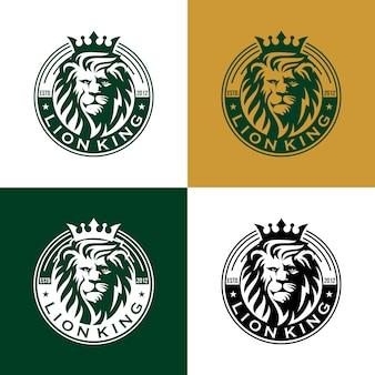 Modelo de design de logotipo de leão vintage