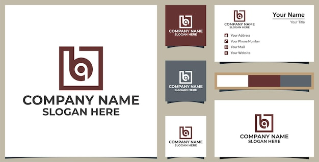 Modelo de design de logotipo de letra b