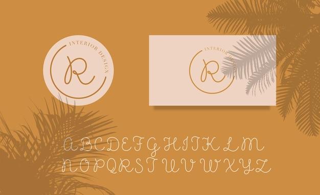 Modelo de design de logotipo de letras femininas - vetor