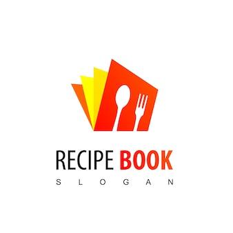 Modelo de design de logotipo de livro de receitas
