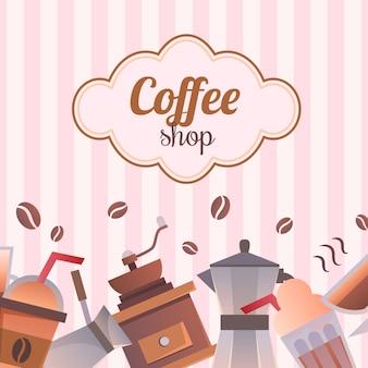 Modelo de design de logotipo de loja de café. emblema de café retrô.