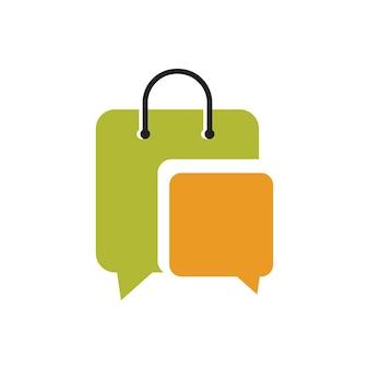 Modelo de design de logotipo de loja social