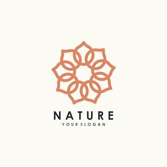 Modelo de design de logotipo de lótus