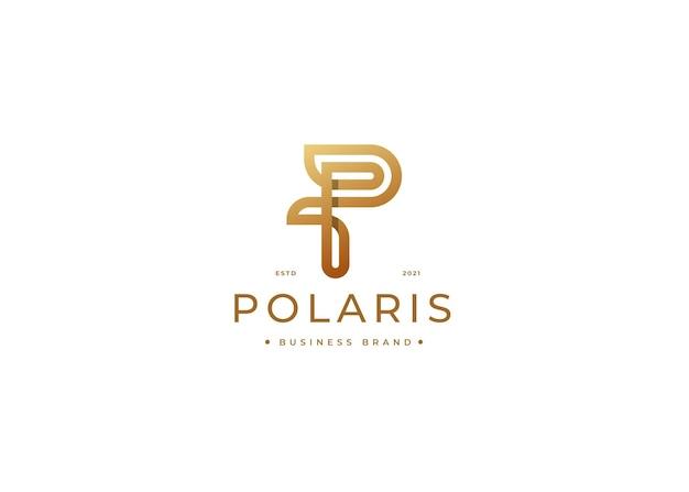 Modelo de design de logotipo de luxo da letra p