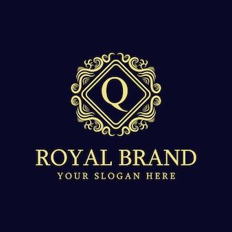 Modelo de design de logotipo de luxo dourado premium