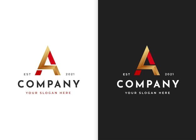 Modelo de design de logotipo de luxo letra a. ilustrações vetoriais