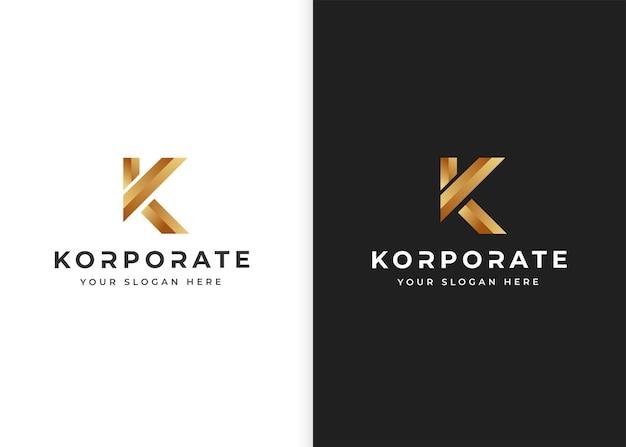 Modelo de design de logotipo de luxo letra k. ilustrações vetoriais