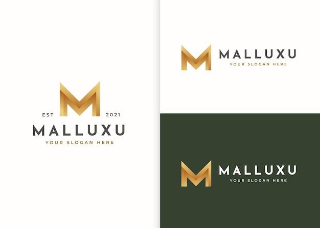 Modelo de design de logotipo de luxo letra m. ilustrações vetoriais