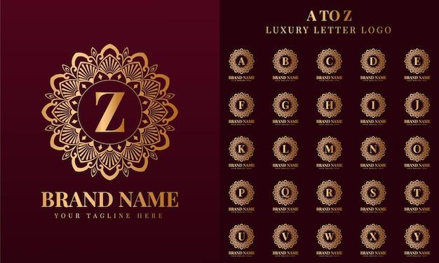 Modelo de design de logotipo de marca de luxo em ouro