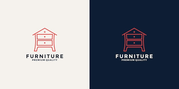 Modelo de design de logotipo de móveis para casa