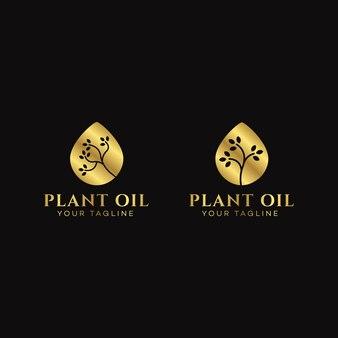 Modelo de design de logotipo de óleo vegetal