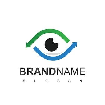 Modelo de design de logotipo de olho, consultoria de olho, ícone óptico