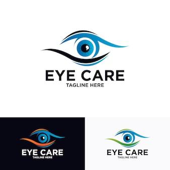 Modelo de design de logotipo de olho