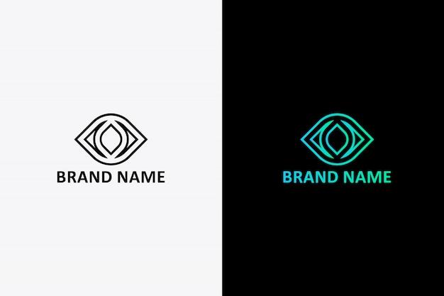 Modelo de design de logotipo de olho,