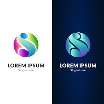Modelo de design de logotipo de onda da letra s