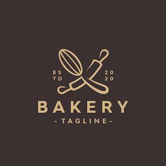 Modelo de design de logotipo de padaria.